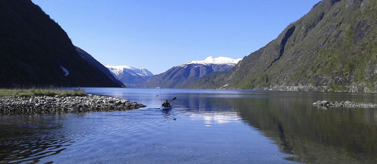 Fjord fishing kayak